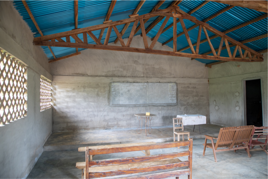 Building where teaching occurs.