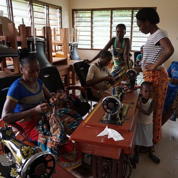 Ladies sewing.